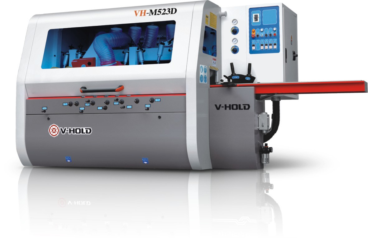 V-HOLD, moulder, 5-head, 230mm, VH-M523D (High Speed Edition – Bigger motors – High speed – Long table)
