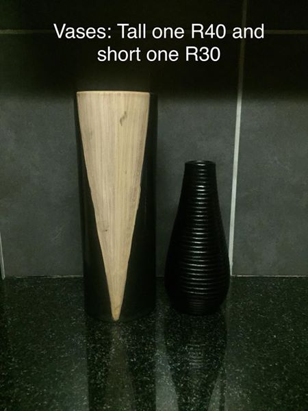Tall and short vases