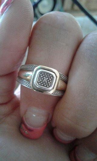 Silver en goud ring