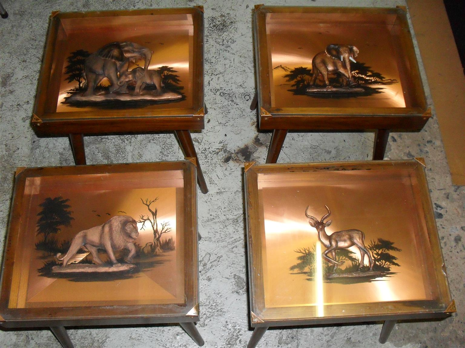 Set of 4  Copper Coffee Tables