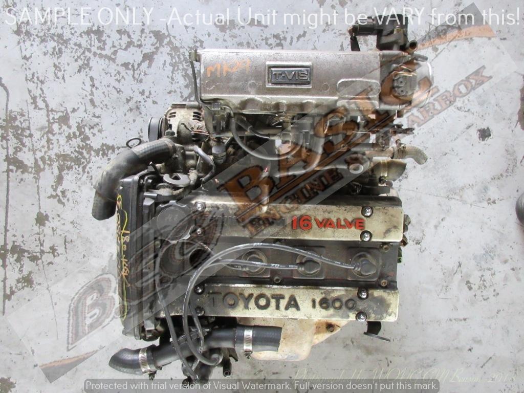TOYOTA COROLLA -4A GE II 1 6L TWIN CAM EFI 16V Engine