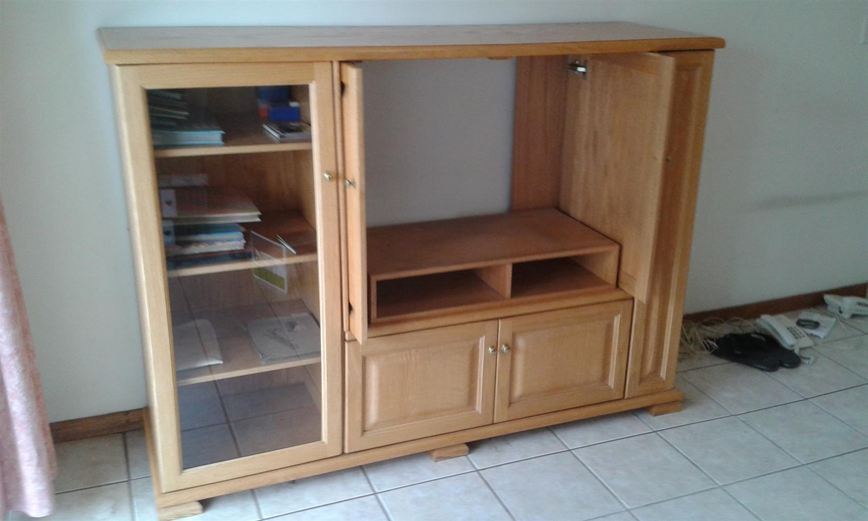 Solid Oak TV Cabinet
