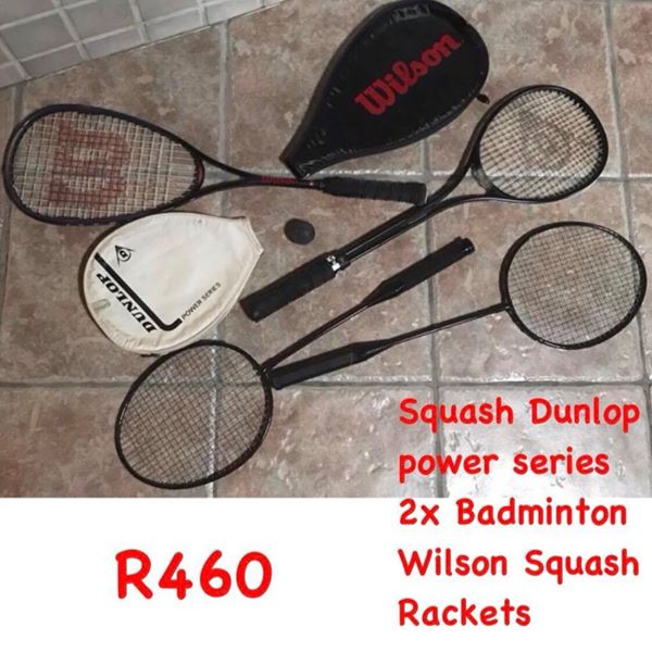 Squash and badminton rackets
