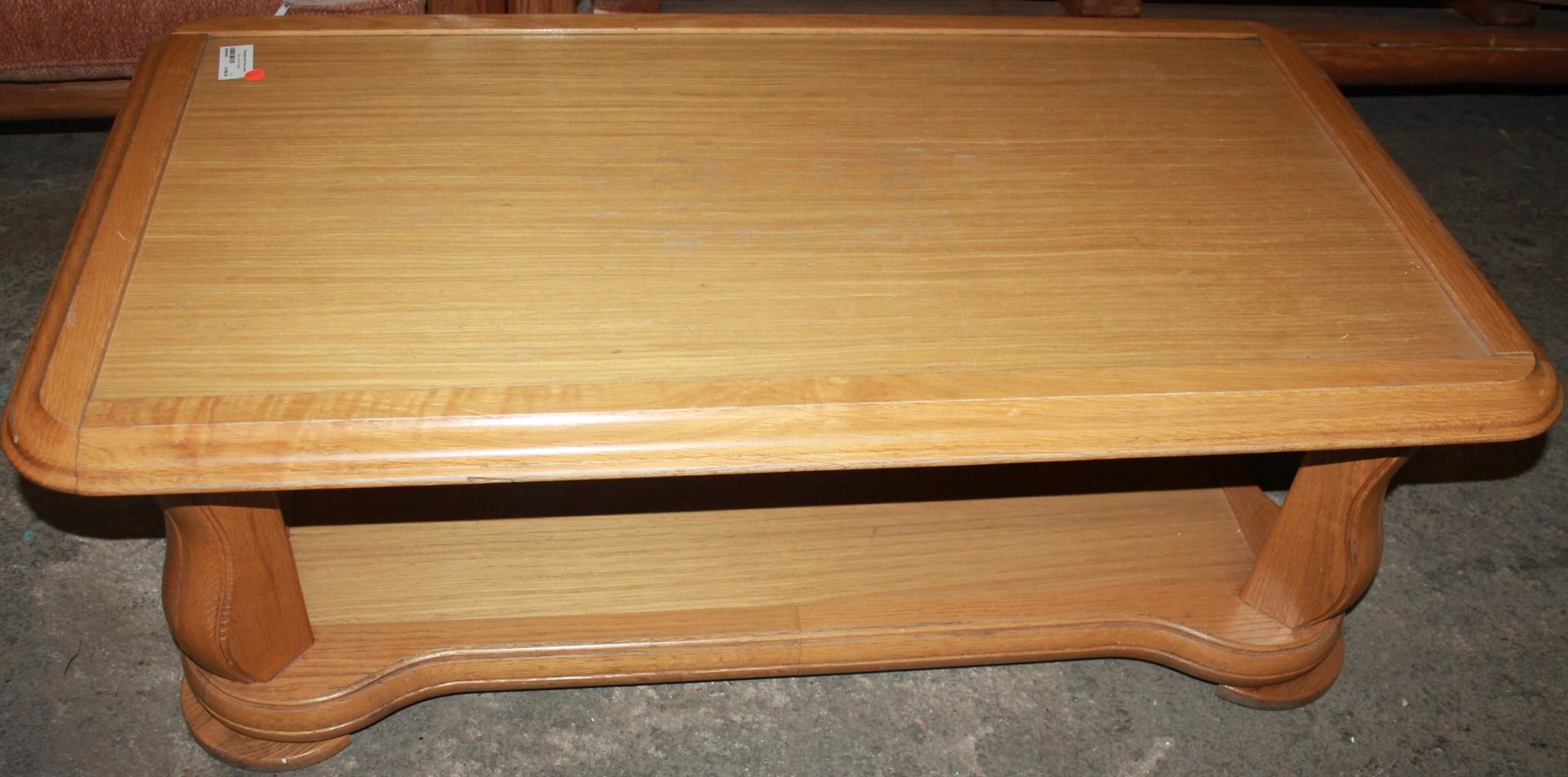 Oak coffee table S025444b #Rosettenvillepawnshop