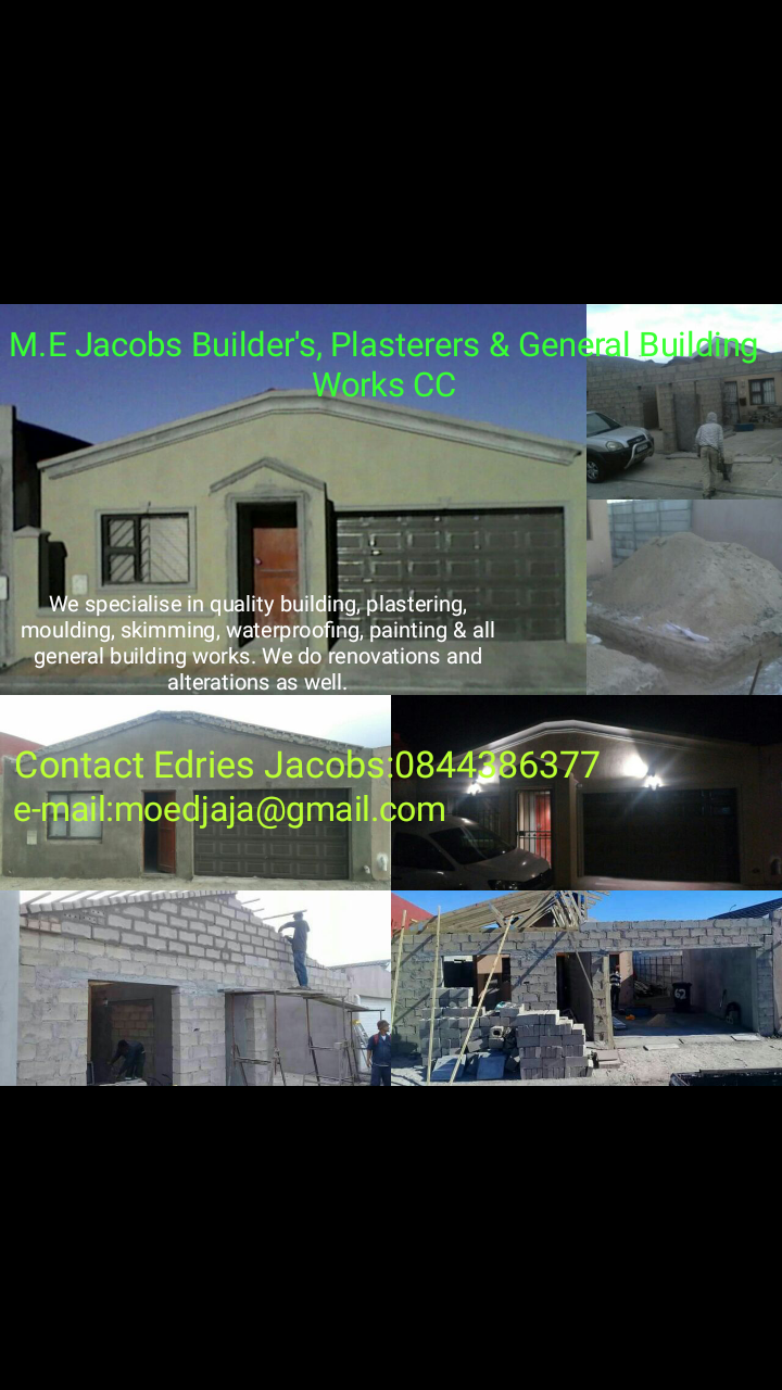 M.E.Jacobs Builders, Plasterers & general works