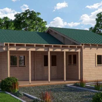 3 Bedroom, kitchen, lounge, bathroom and toilet log home