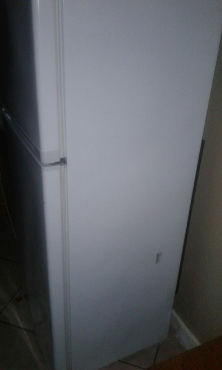 Fridge and cupboard