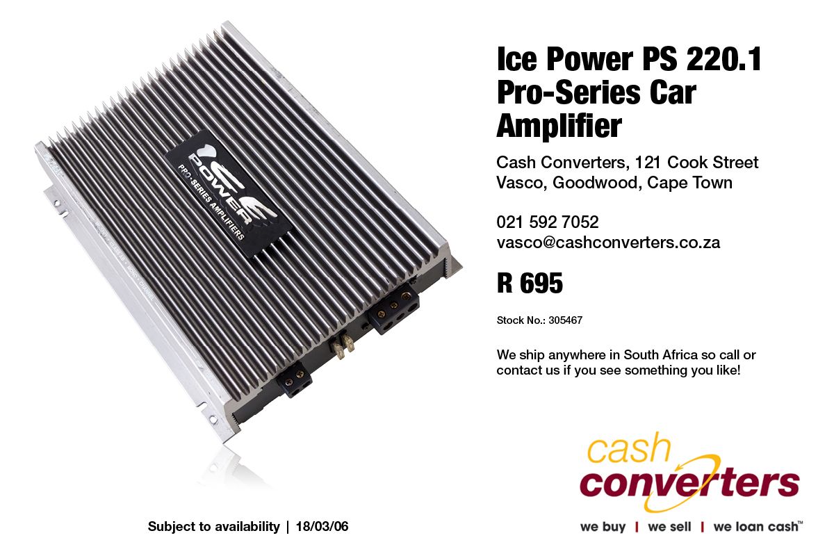 Ice Power PS 220 1 Pro-Series Car Amplifier | Junk Mail