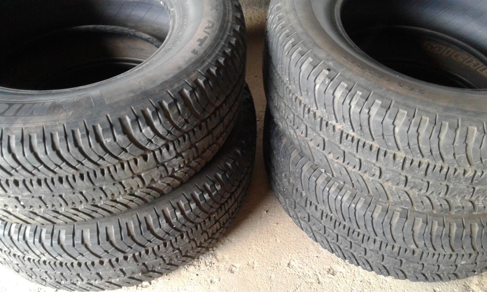 Four Michelin Tyres for sale