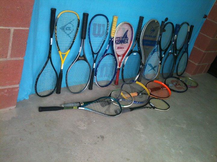 Various Tennis & Squash Raquets.