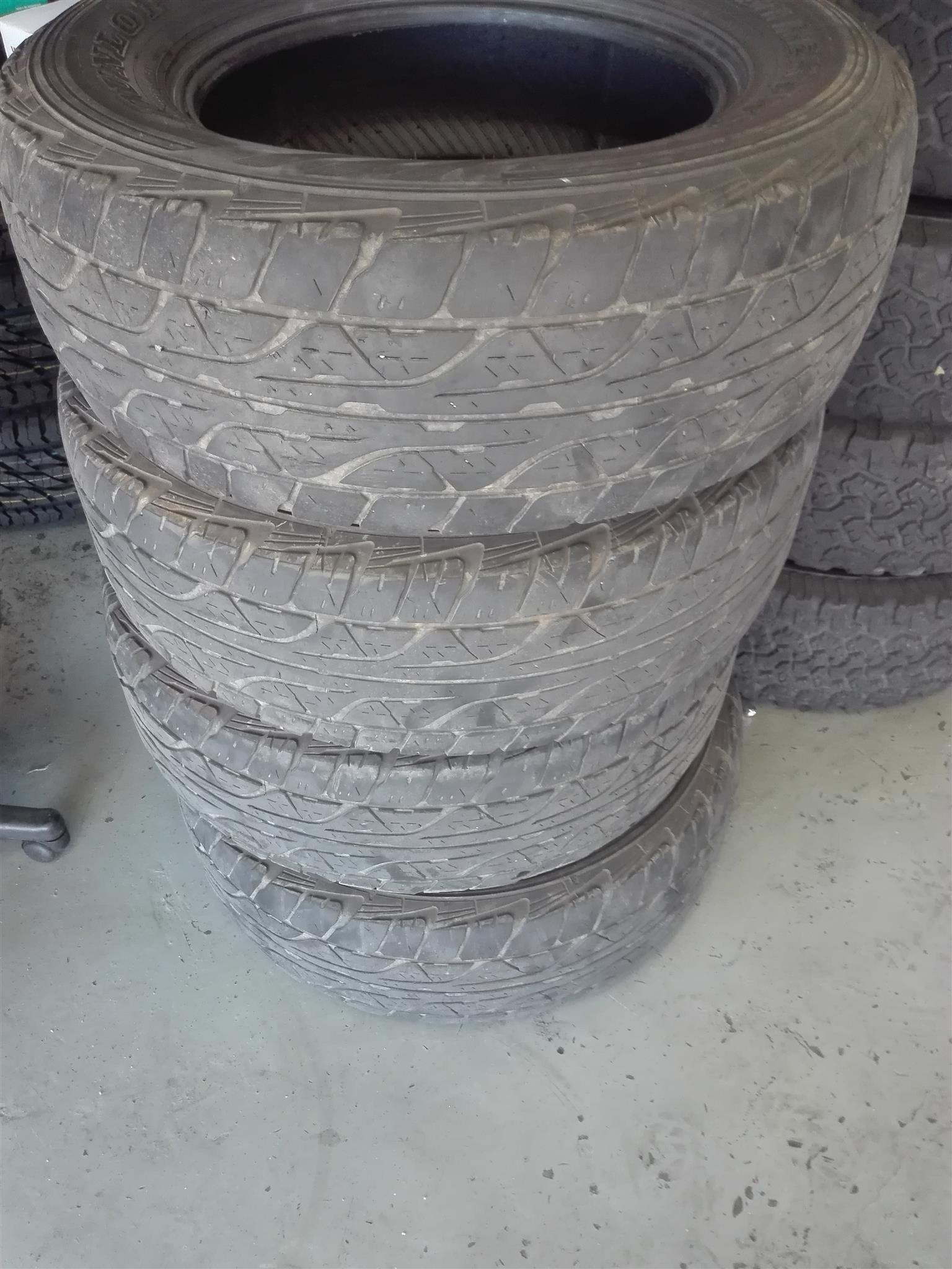 """Dunlop all terrain tyres 17"""""""