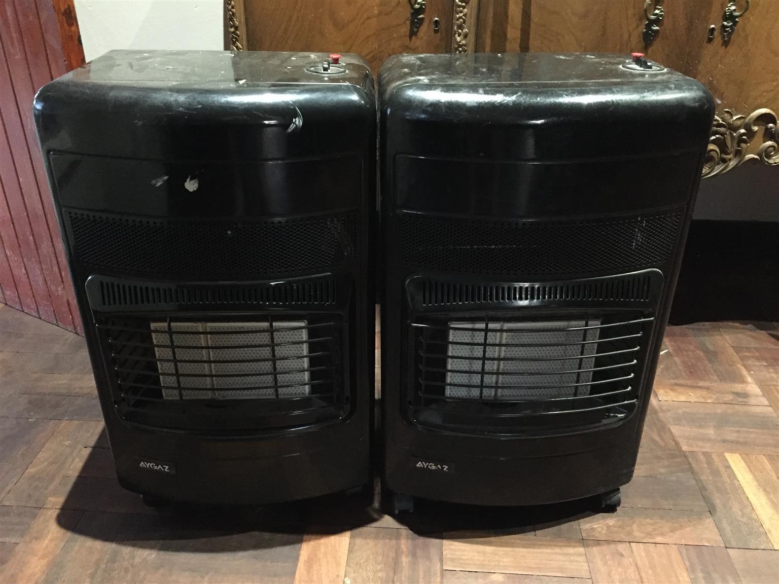 2 x Aygaz Gas heaters