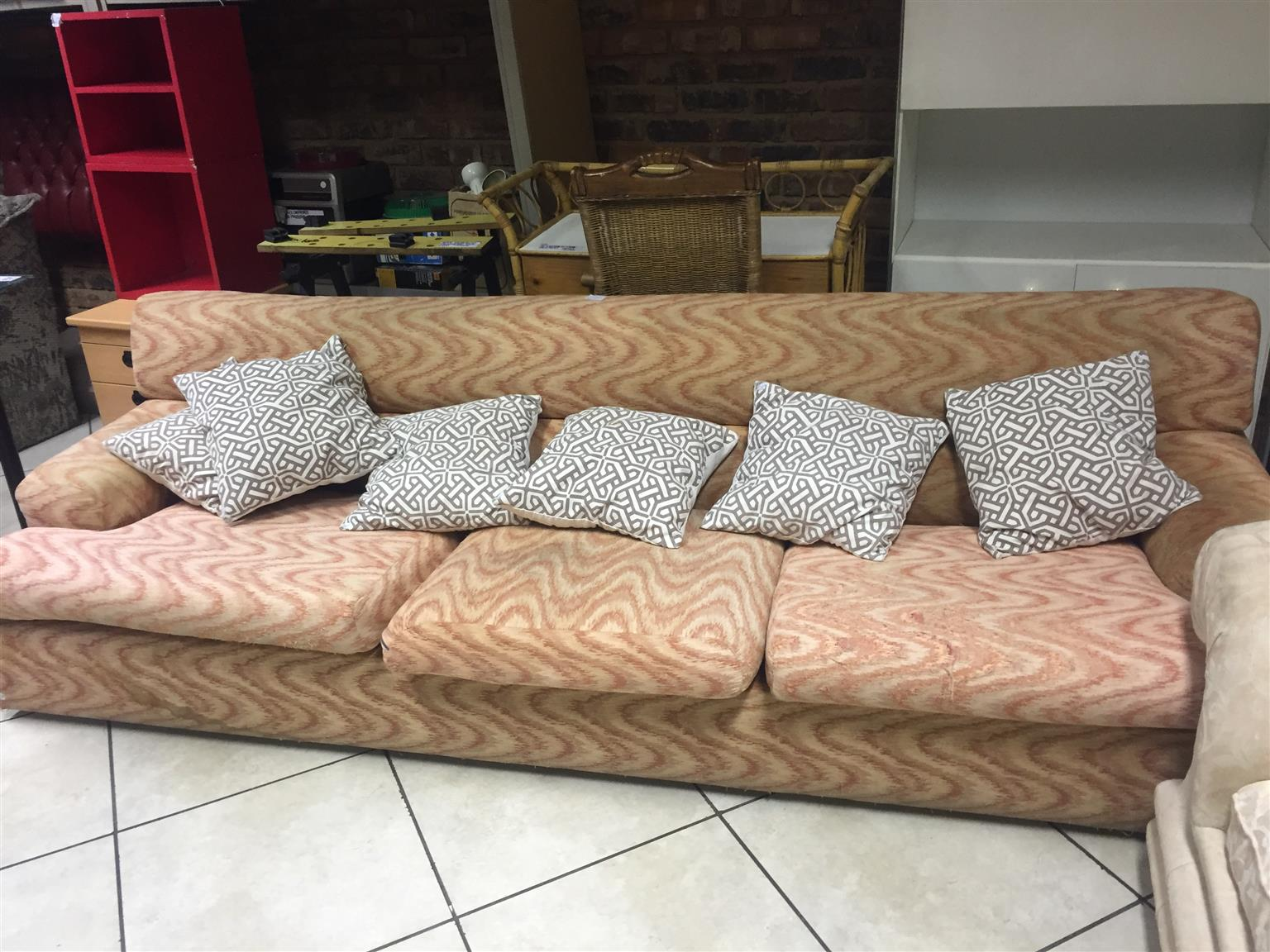 3 Seater Sofa with 6 Cushions