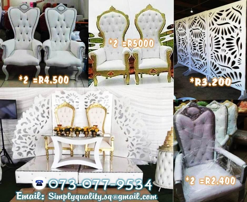 High Back Royal Wedding Chairs S