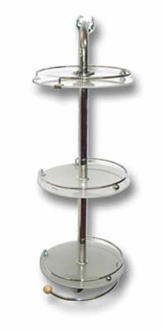 3 Tier chrome And Frosted glass wall mounted shower caddy!! On Special!!!