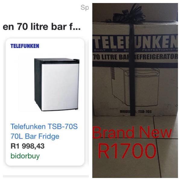 Telefunken 70L bar fridge
