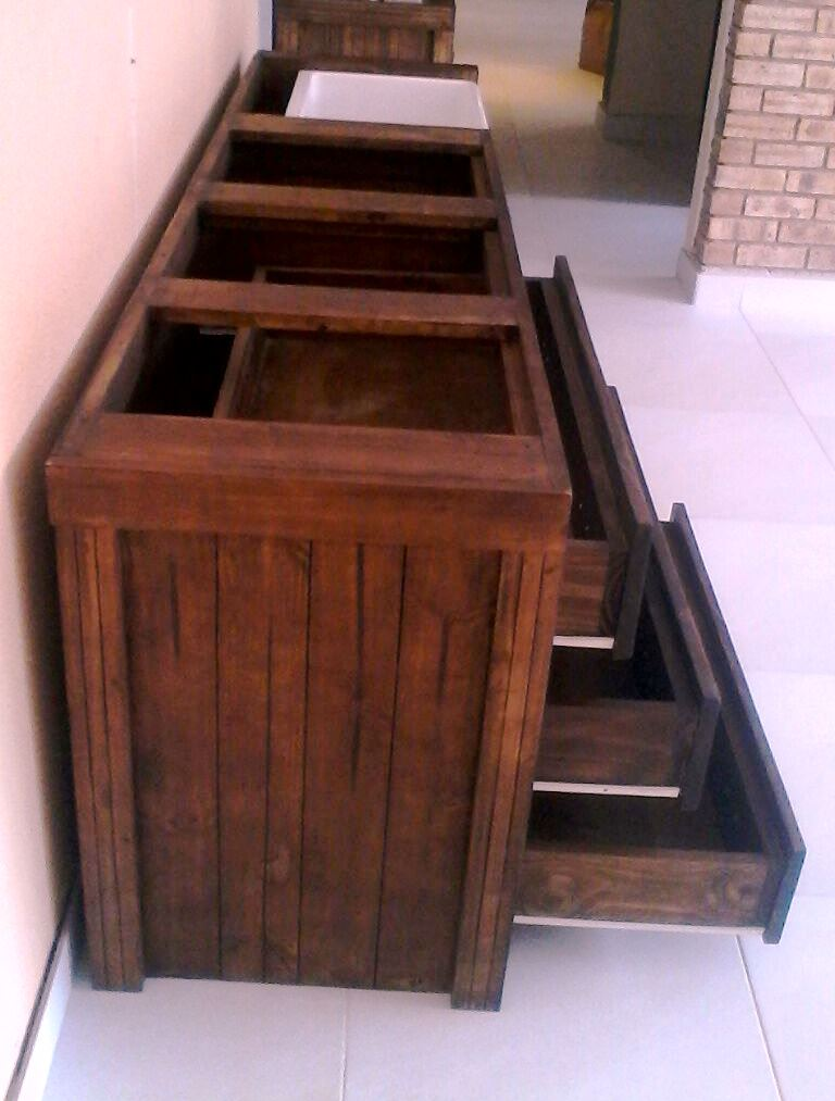 Kitchen Cupboard Scullery unit Farmhouse series 2310 Stained
