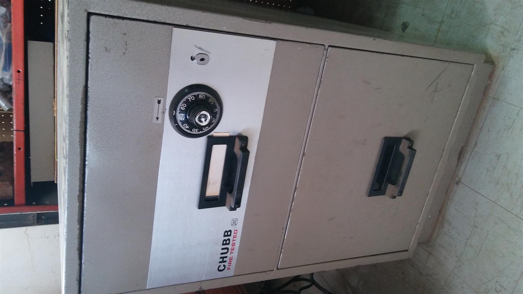 Big 2 drawer Fireproof Chubb safe