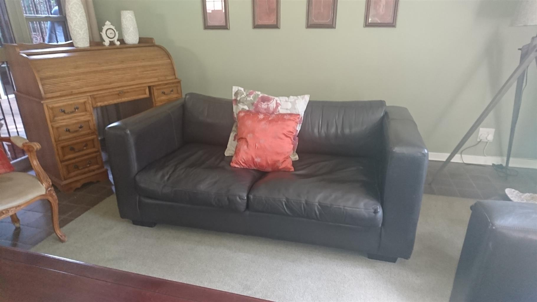2x 2 seater leather couches from Wetherlys hardly used