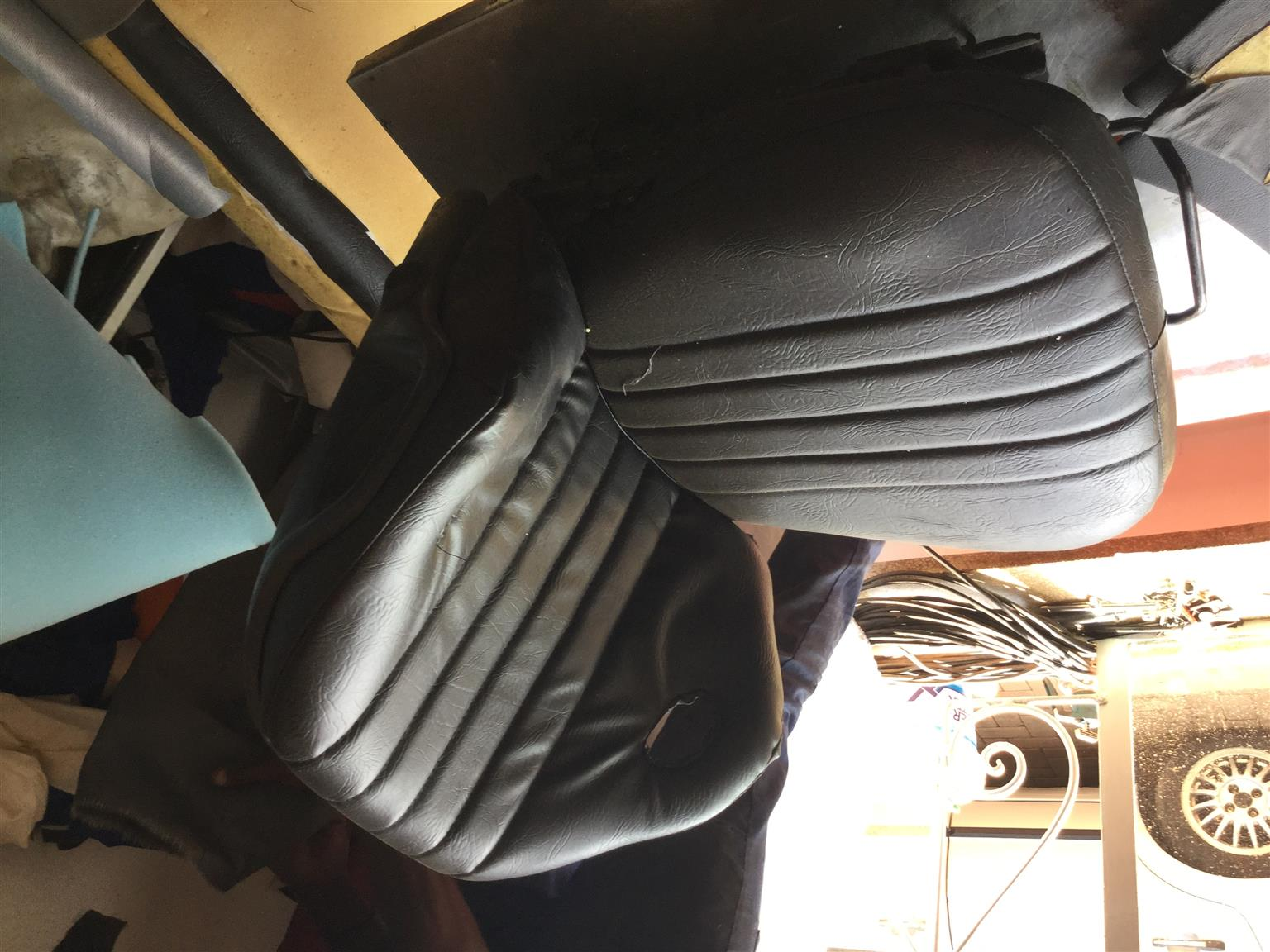 Fork lift seats reupholstered for R700