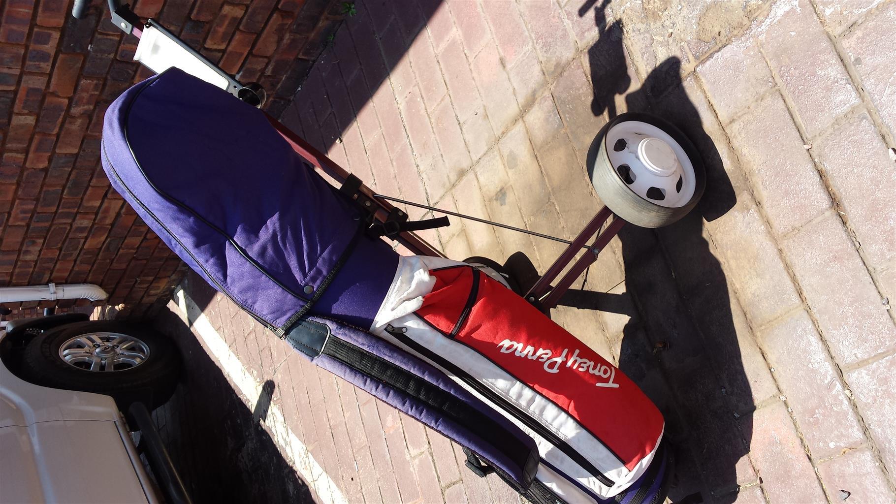 Golf set with bag and cart