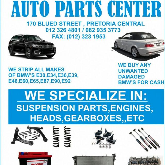 Find Auto Parts Pretoria's adverts listed on Junk Mail