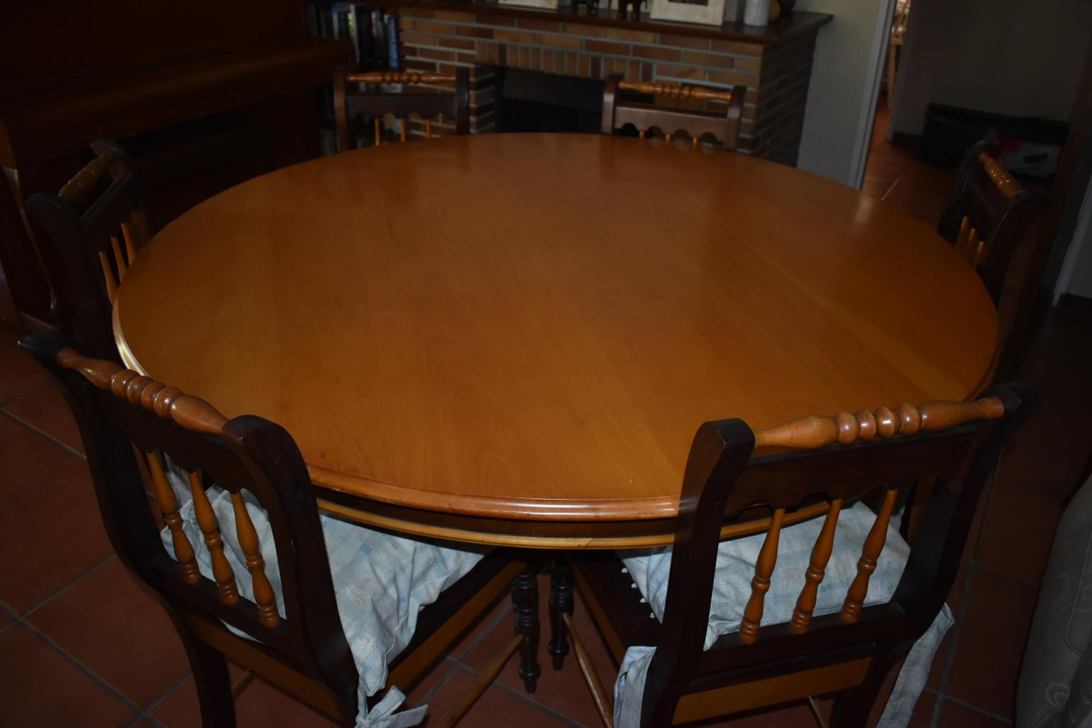 IMBUIA AND YELLOW WOOD DINING ROOM SET