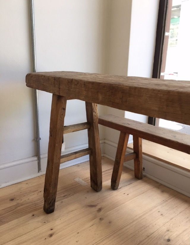 Antique wooden benches