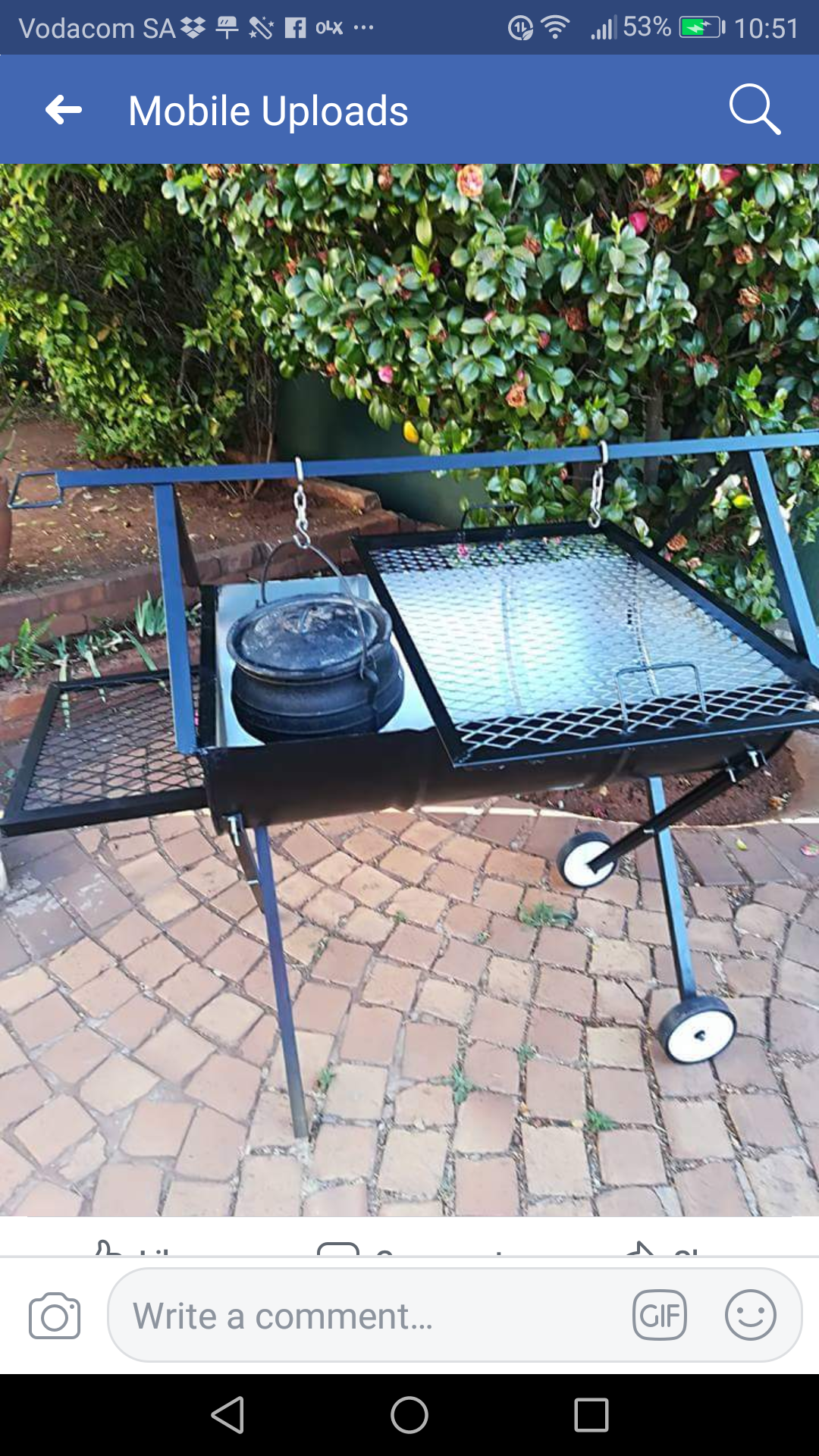 Braai stands - double large drum braai stand Only R1600