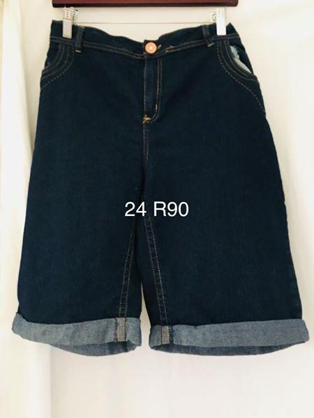 Dark blue size 24 denim shorts