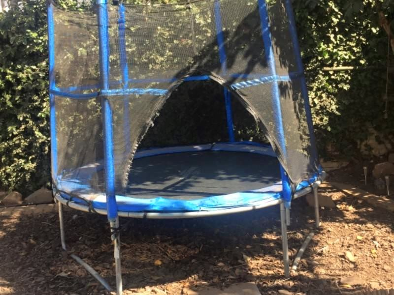 Two year old 2.4m trampoline