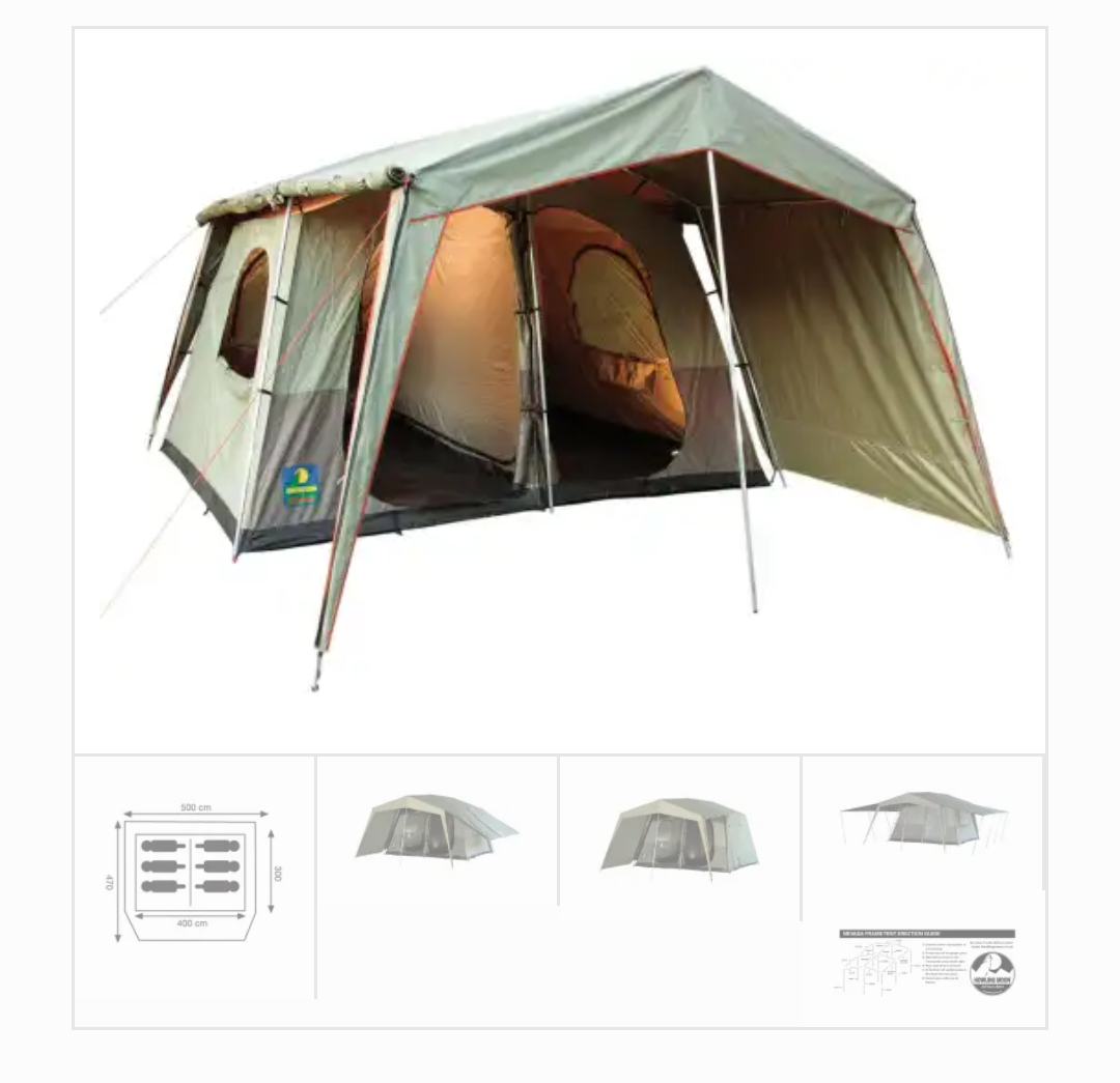 Howling Moon Nevada canvas tent and 60l camping freezer