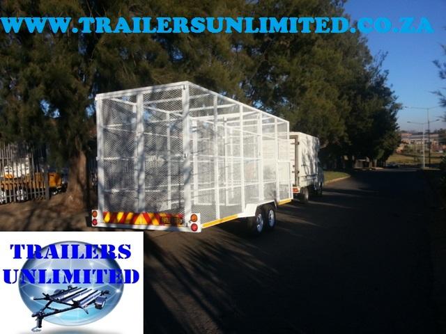 Recycling Utility Trailer 6000 x 2000 x 2100
