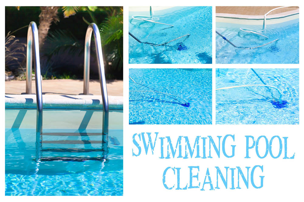 Swimming pool cleaning services, repairs and installations
