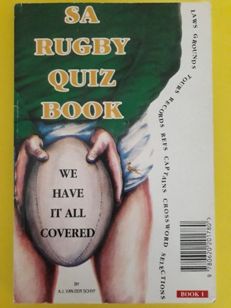 SA Rugby Quiz Book - AJ Van Der Schyf - Book 1.