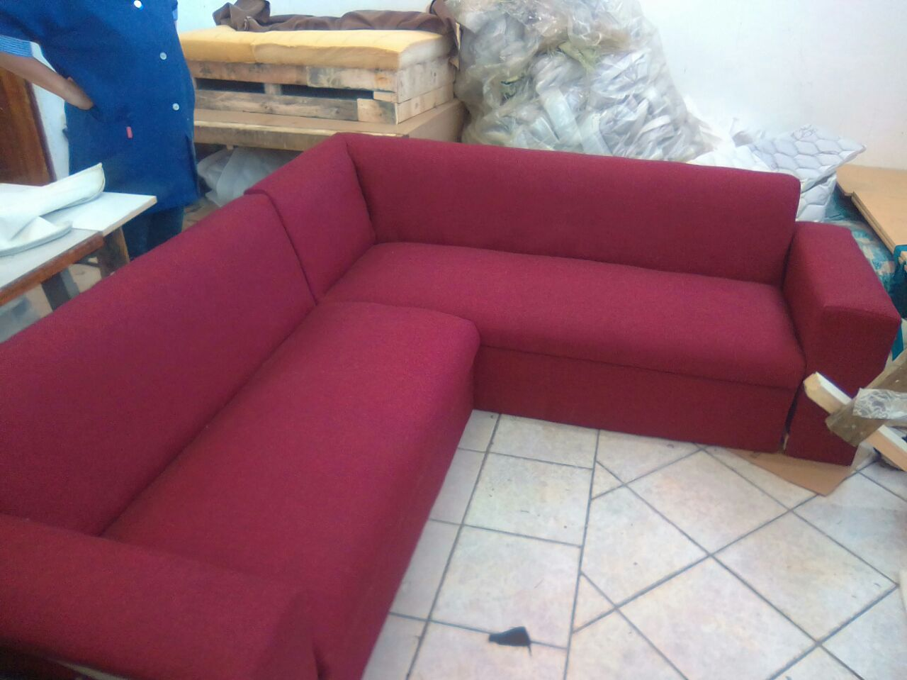 urgent sale! new red sofa