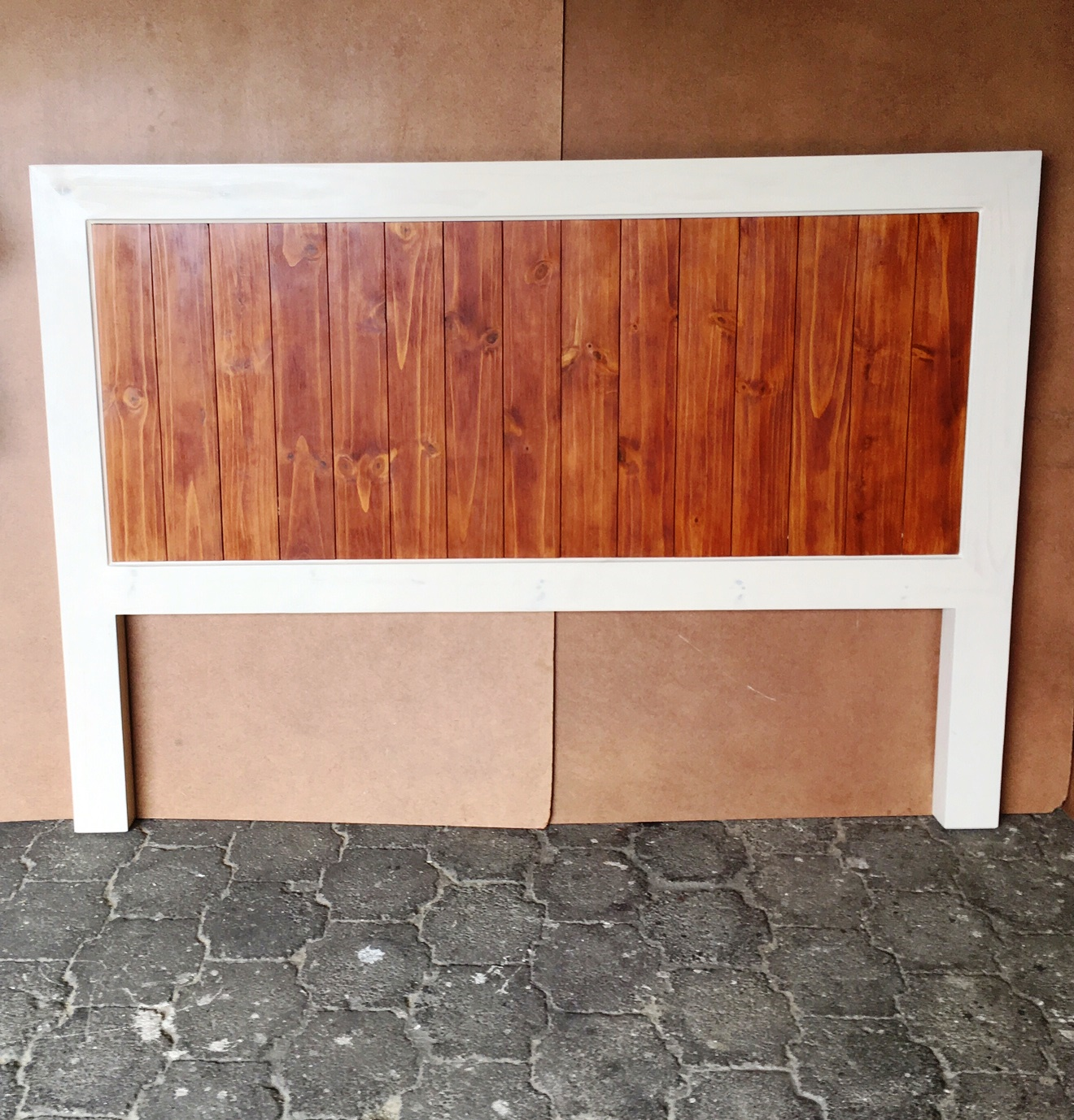 Headboard Chunky Farmhouse series King size Two tone