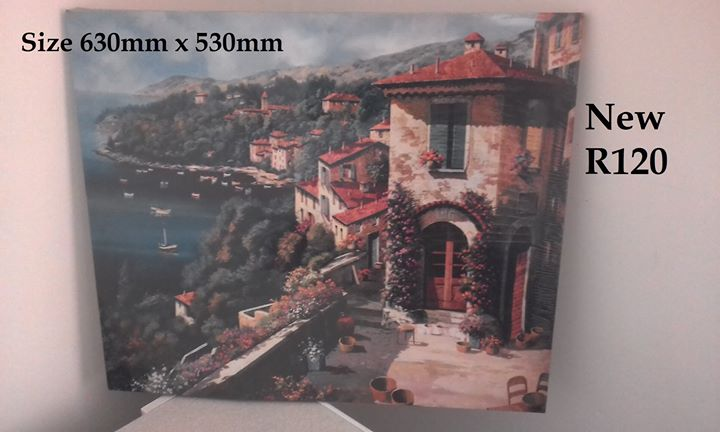 Italian scene canvas painting