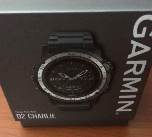 Garmin GPS D2 Charlie Pilot Titanium Edition Wrist Heart Rate Watch
