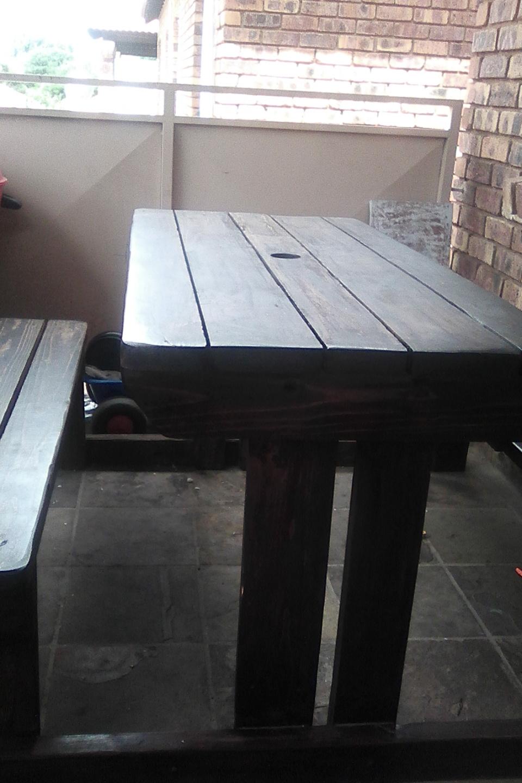 Wooden garden bench 6 seater