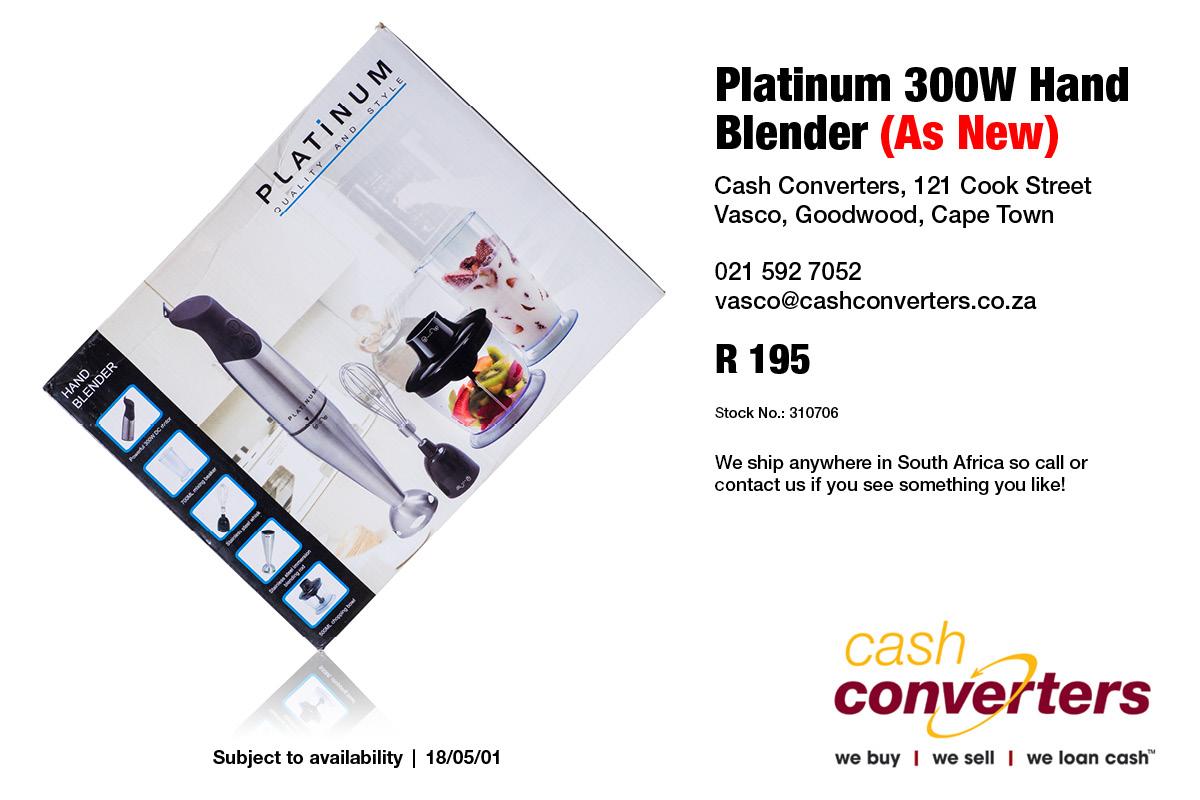 Platinum 300W Hand Blender (As New)