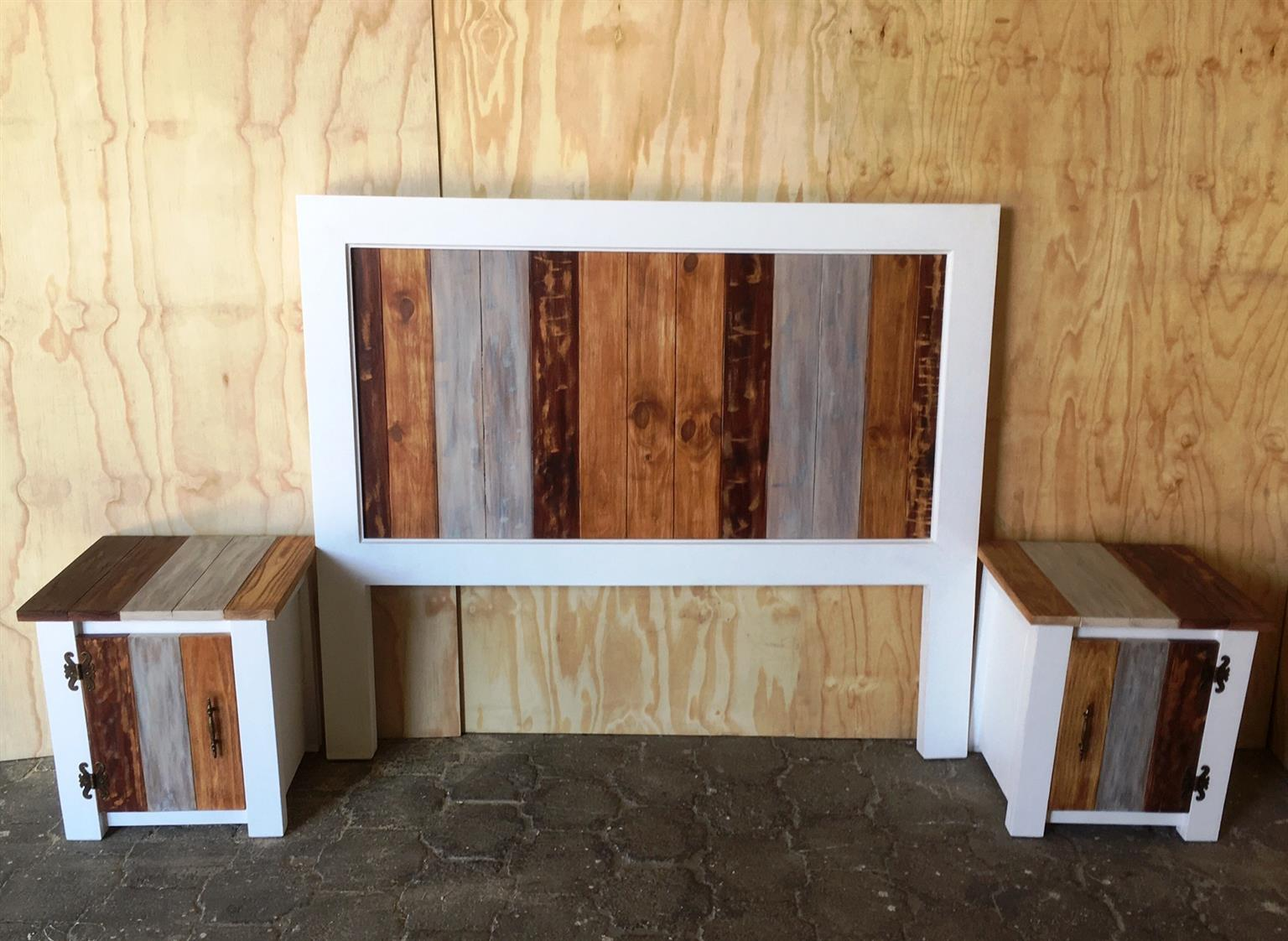 Headboard Chunky Farmhouse series Queen size Combo Weathered look