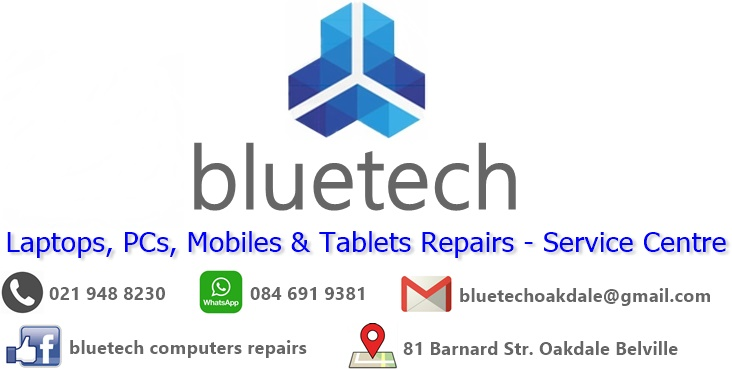 Laptop parts and spares, Bluetech Oakdake Bellville 021 948 8230