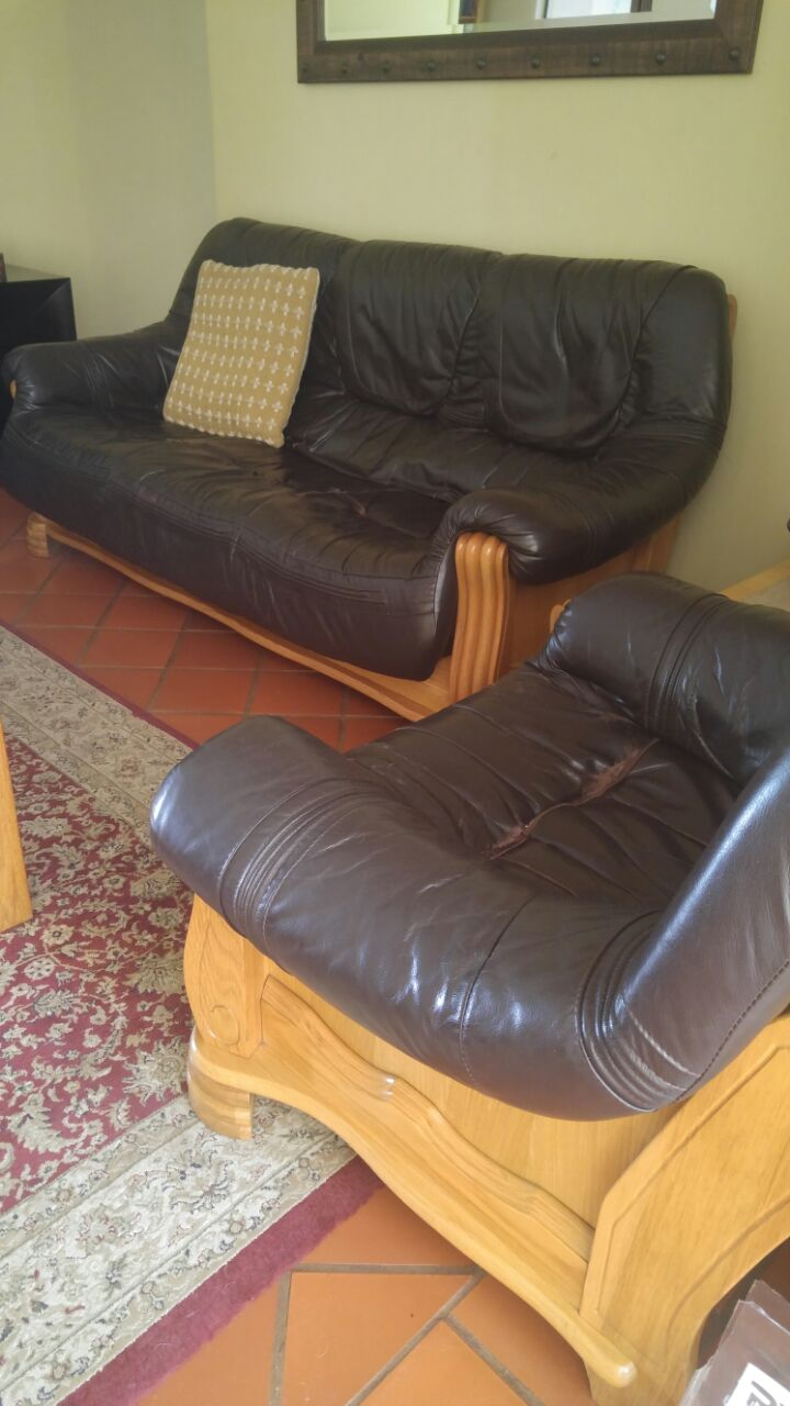 3+ 2 +1 seater Leather Lounge suite.