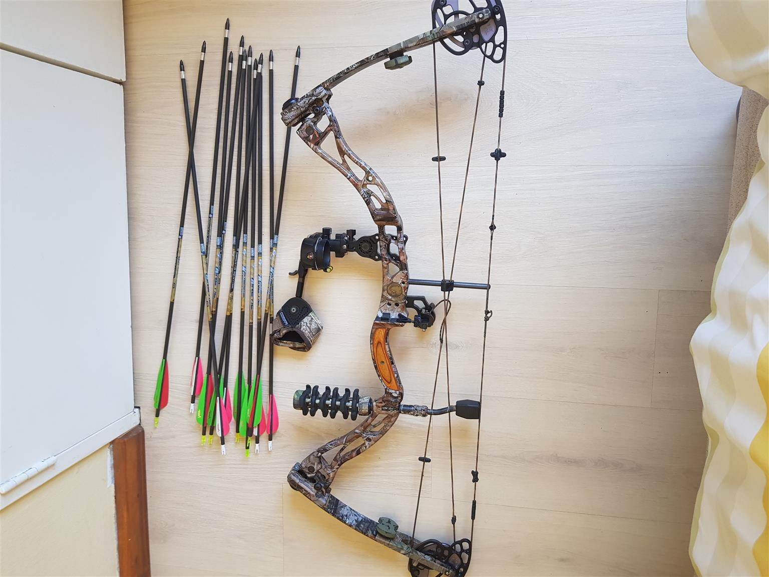 Elite compound bow and bag