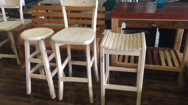 All Sorts of Pine Bar Stools.