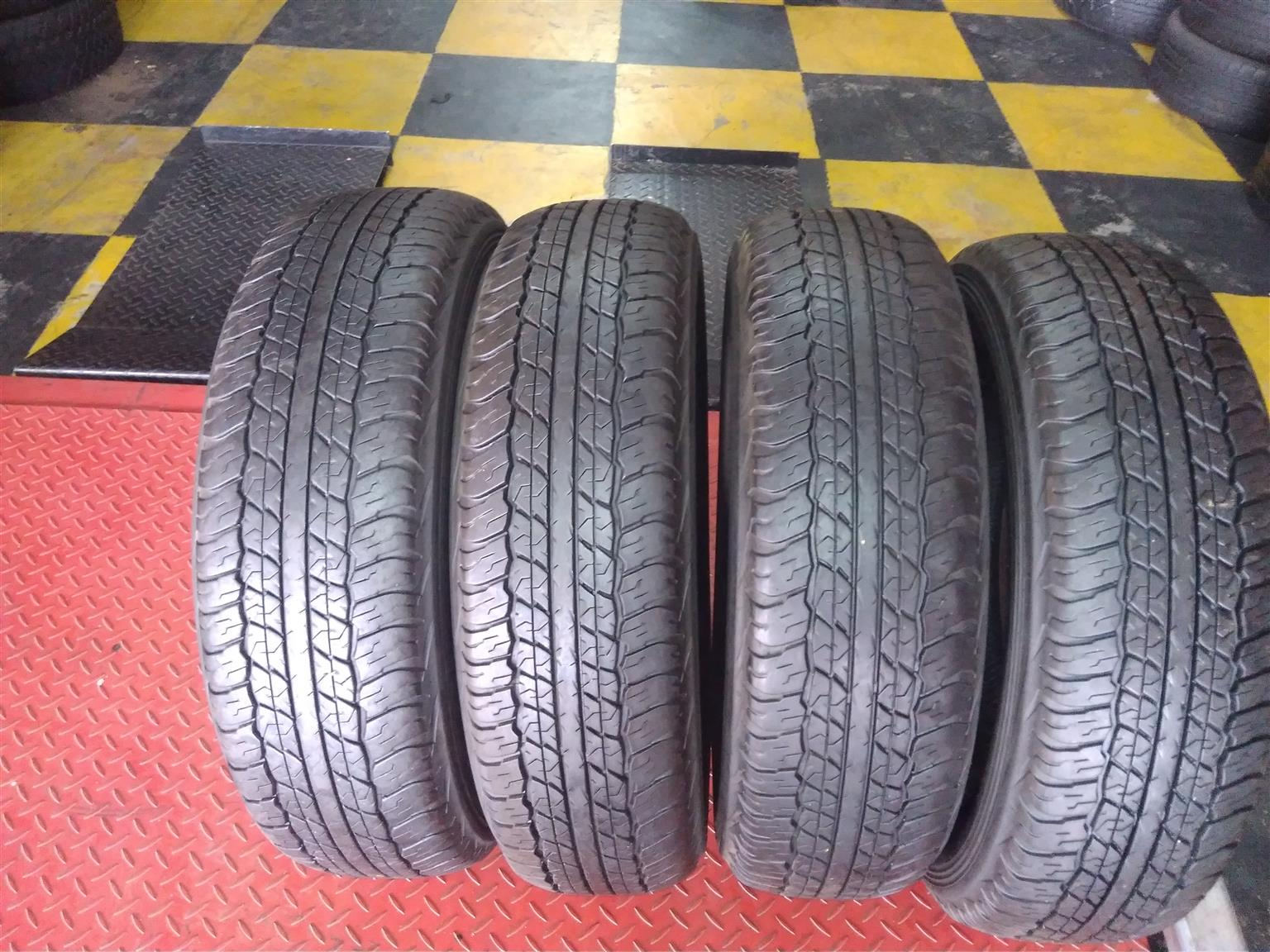 Set of 225/70/17c Dunlop AT2 tyres