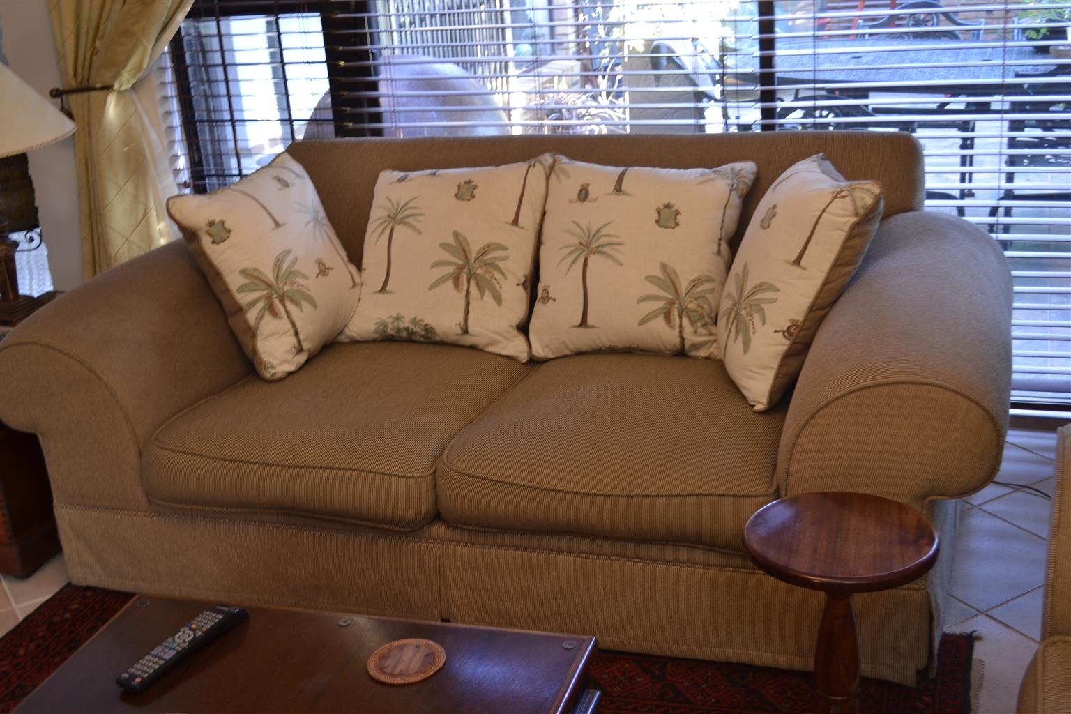 Wetherlys 2 + 3 seater couch.