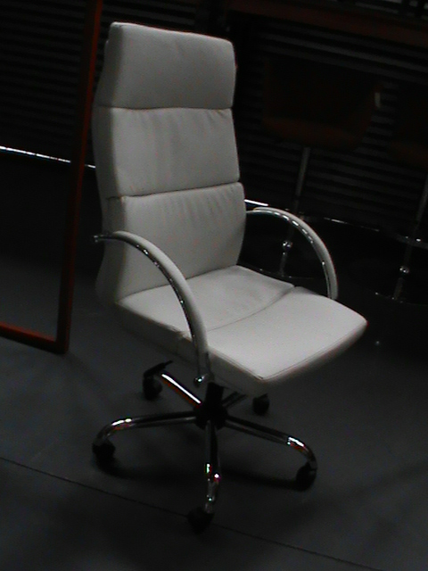 White h/b leather chair