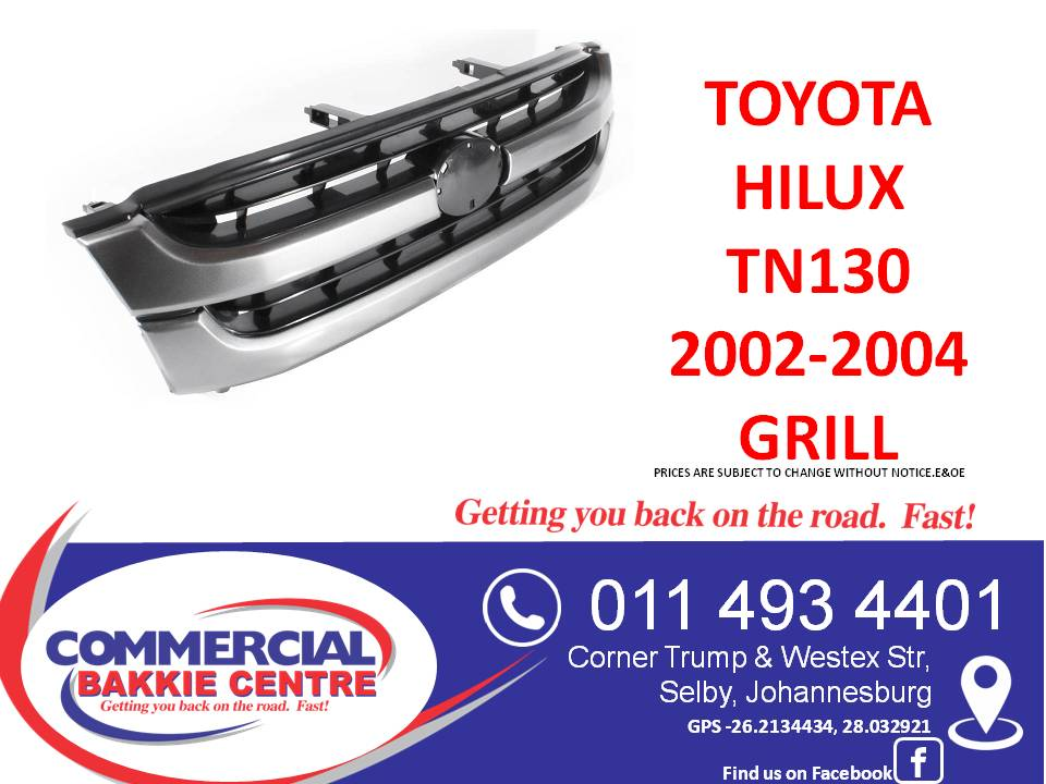 toyota hilux tn130 2002-2004 grill new